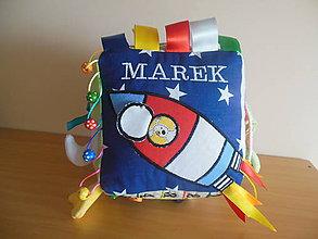 Hračky - Látková kocka na hranie MAREK - 7627917_