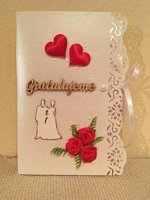 Papiernictvo - Pohľadnica svadobná - 7627329_