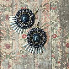 Náušnice - Old Times n.2 - vyšívané náušnice - 7626871_