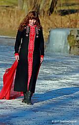Šaty - Dámske maxi šaty maľované, folk TROJKRÁĽOVÉ - 7627244_