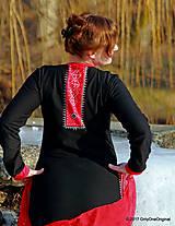 Šaty - Dámske maxi šaty maľované, folk TROJKRÁĽOVÉ - 7627249_