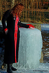 Šaty - Dámske maxi šaty maľované, folk TROJKRÁĽOVÉ - 7627257_