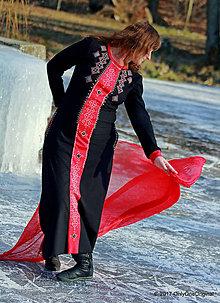 Šaty - Dámske maxi šaty maľované, folk TROJKRÁĽOVÉ - 7627230_