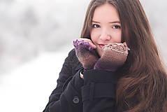 Rukavice - Bezprstové rukavičky - melír - 7627792_