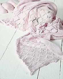 Šatky - Pletený ružový pléd - 7625324_
