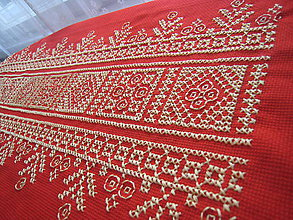 Úžitkový textil - Vyšívaný obrúsok - 7625446_