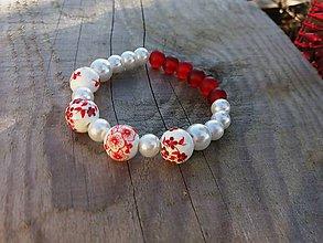 Náramky - Červený porcelánový - 7628311_