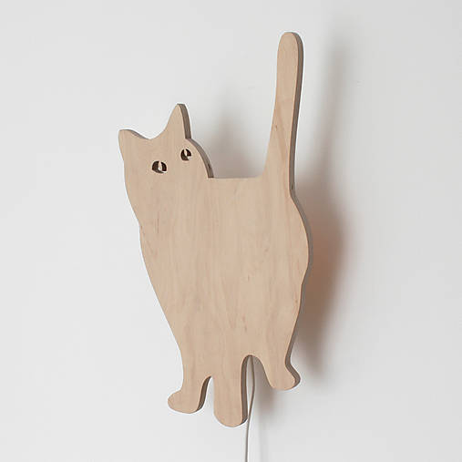 "Lampa ""micka pozerá na chladničku"" :-)"