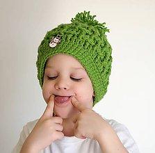 Detské čiapky - detská čiapka zelená - 7626634_