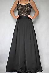 Sukne - Spoločenská skladaná sukňa s tylovou spodničkou rôzne farby - 7625063_