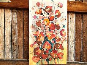Obrazy - Ruže šípové...maľba na hodváb - 7627952_
