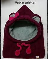 Detské čiapky - Pletená kukla pre malé slečny - 7624630_