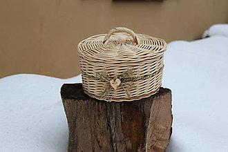 Košíky - Veľký košík s vrchnákom (šperkovnica) - 7631452_