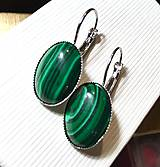 Náušnice - Malachite French Clasp Earrings / Náušnice s malachitom - 7629429_