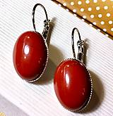 - Red Jasper French Clasp Earrings / Náušnice s červeným jaspi - 7629713_