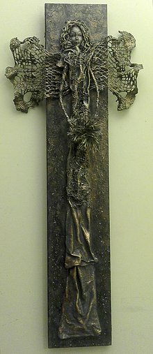 Obrazy - anjel na dreve (80 cm) - 7631292_