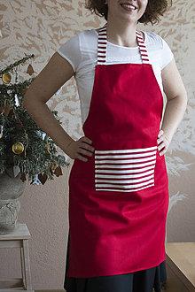 Iné oblečenie - Červená zástera - 7631590_