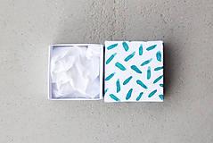 Krabičky - Krabička mesiaca január (tyrkysovo-biela) - 7630244_