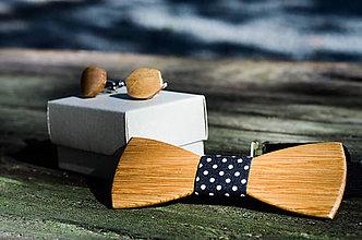 Šperky - Dizajnový drevený set motýlika a manžetových gombíkov - 7631234_