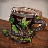 Nádoby - Káva v lese - šálka na kávu (picollo) - 7630921_