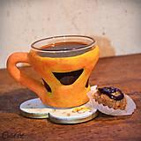 Nádoby - Zlaté slnko - šálka na kávu (picollo) - 7630984_