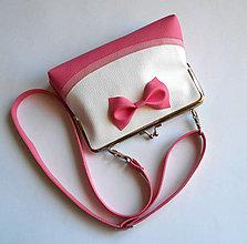 Detské tašky - ružová s mašľou - 7630281_
