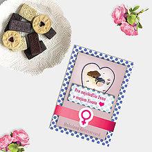 Grafika - Sladká valentínska pohľadnica cukríky pre ňu - 7630011_