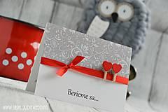Papiernictvo - Svadobné oznámenie Láska na štipčeku - 7635463_
