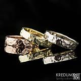 Prstene - Zlatá svadobná obrúčka - Golden Draill Red - 7632431_