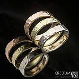 Prstene - Zlatá svadobná obrúčka - Golden Draill Red - 7632433_