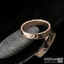 Prstene - Zlatá svadobná obrúčka - Golden Draill Red - 7632432_