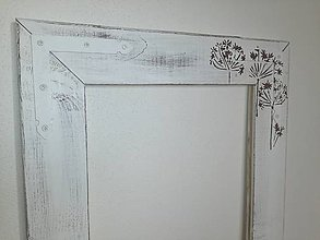 Zrkadlá - Rám na zrkadlo - kvetinky - 7633705_