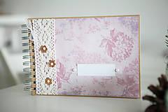 Papiernictvo - Kniha hostí / fotoalbum ružová - 7633307_