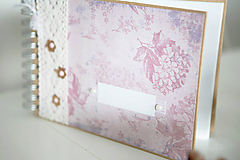 Papiernictvo - Kniha hostí / fotoalbum ružová - 7633308_