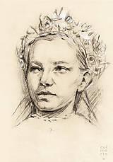 Kresby - Dievča s partou - portrét - 7632843_