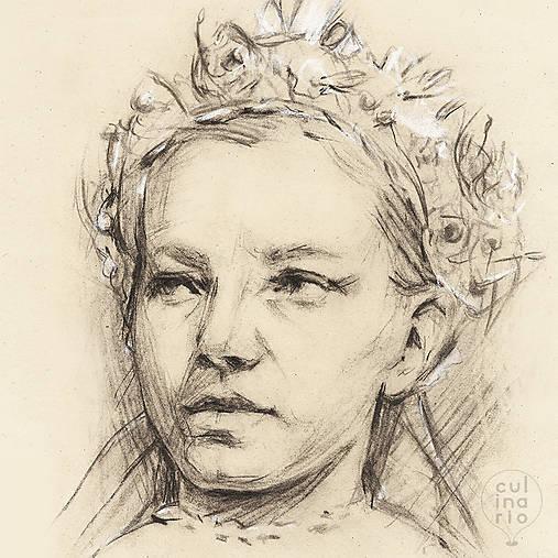 Dievča s partou - portrét