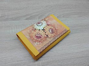 Peňaženky - Žltá peňaženka na 8 kariet - 7634246_