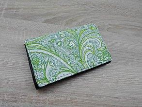 Peňaženky - Peňaženka na 8 kariet,koženka+bavlna - 7634262_