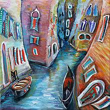 Obrazy - Kanál v Benátkách - 7633880_