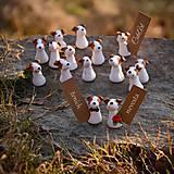 Darčeky pre svadobčanov - Darčeky pre svadobných hostí, menovky - maľované podľa fotografie psíka - 7632793_
