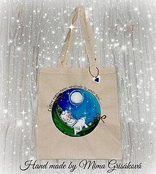 Nákupné tašky - plátená taška , malý hrášok - 7633687_