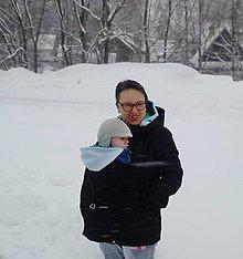 Kabáty - Softshelka na nosenie bábätka - 7632696_