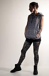 Iné oblečenie - šedá teplá vesta s potlačou pleteniny - 7634258_
