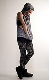 Iné oblečenie - šedá teplá vesta s potlačou pleteniny - 7634261_
