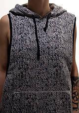 Iné oblečenie - šedá teplá vesta s potlačou pleteniny - 7634269_
