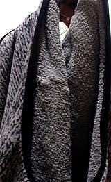 Iné oblečenie - šedá teplá vesta s potlačou pleteniny - 7634274_