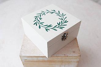 """Prstene - Svadobná krabička """"lístky"""" - 7632577_"""