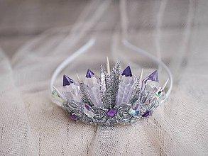 Ozdoby do vlasov - ledová královna, korunka na čelence - 7632228_