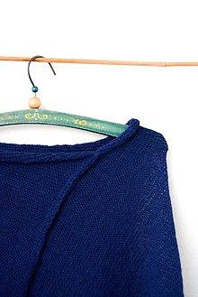Iné oblečenie - _ALPAKA PoNČo... v tmavomodrej... 100% alpaka - 7637602_