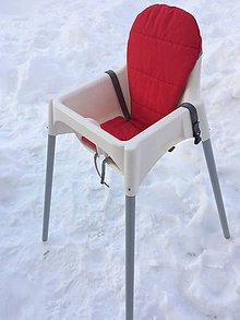 Textil - Podložka do vysokej stoličky Červeno-sivá - 7637560_